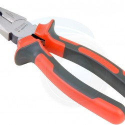 Pliers Steel Combination 8-Inch  (red and black)