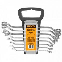 INGCO Offest Ring Spanner Set 8Pcs HKSPA3082
