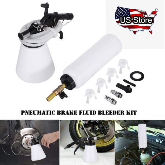 Pneumatic Brake Fluid Bleeder Kit