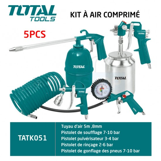 Total Tools Air Tool 5PCS Set