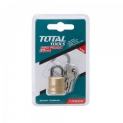 Total Tools Heavy duty brass block padlock 1.5 inch