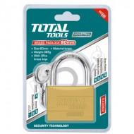 Total Tools Heavy Duty Brass Block Padlock 2.5 Inch