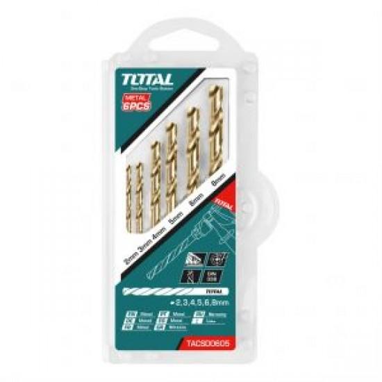 Total Tools HSS Twist Drill Bits 6PSC Set