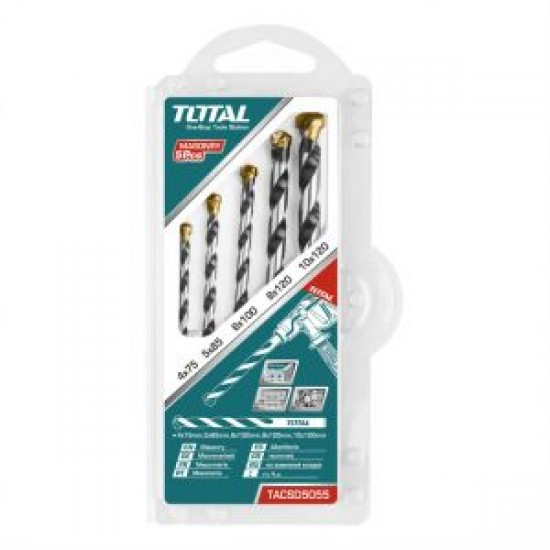 Total Tools Masonry drill bits set 5PCS