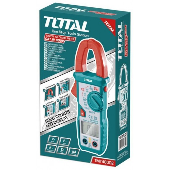 Total Tools Digital AC Clamp Meter 600V-200A