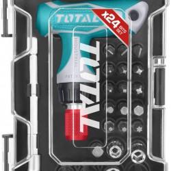 TOTAL TOOLS 24 Pcs T-handle wrench screwdriver set