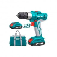TOTAL Lithium Ion Cordless Drill 12V 2 Battery