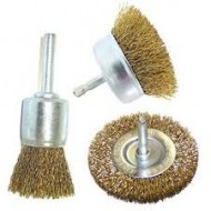 Wire Brush For Drill - 3 Piece