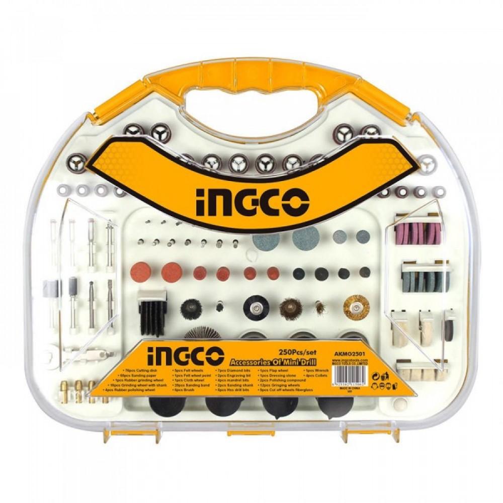 INGCO Accessories Of Mini Drill Set 250 Pcs