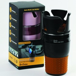 Adjustable Auto Multi Cup Holder 5 in 1 Holder Multi Cup Case
