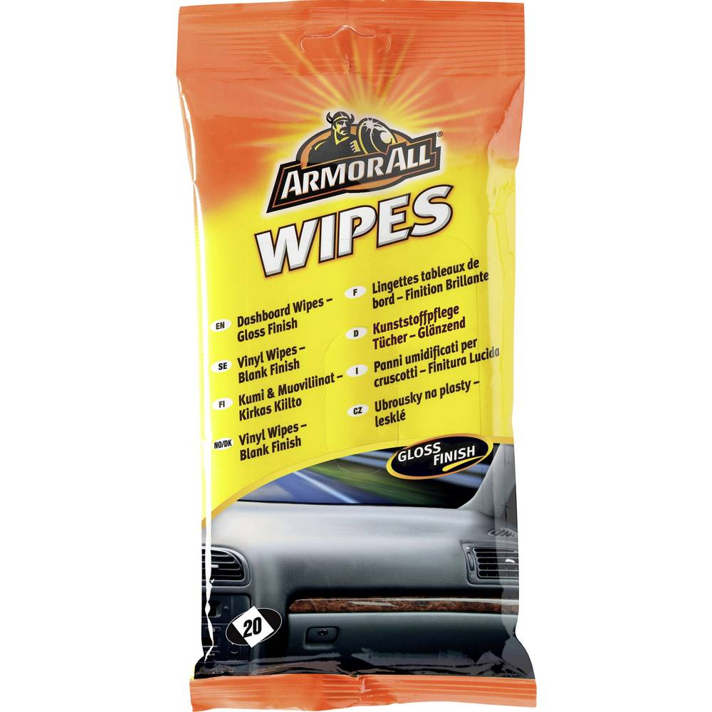 ArmorAll Plastic Wipes 20 Pcs
