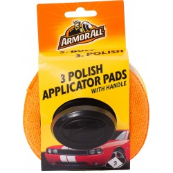 ArmorAll Car Cleaning Polishing Applicators with Handle 3 Pack